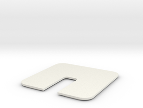 Conf Rm Table Hole Panel 06 thick in White Natural Versatile Plastic
