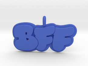10- BFF Bubble Letters  in Blue Processed Versatile Plastic: Small