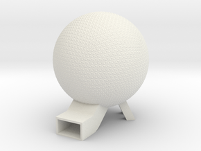 EPCOT Spaceship Earth Model 6in in White Natural Versatile Plastic