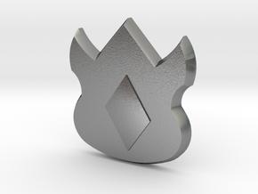 Pokemon Kanto Volcano Badge in Natural Silver