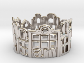 Amsterdam Ring - Gift for Traveler in Platinum: 6 / 51.5