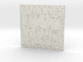 Ramones Lithophane in White Strong & Flexible