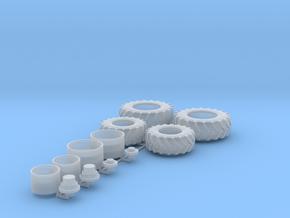 H0 1:87 Stollenreifen für Wiking John Deere 7R in Smooth Fine Detail Plastic