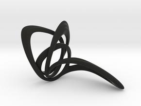 Looplooploop Ring size US6.0 in Black Natural Versatile Plastic