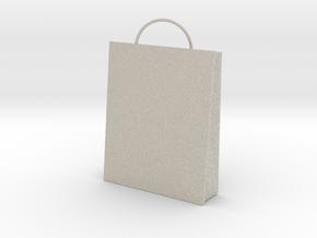 Plain Bag Charm in Natural Sandstone