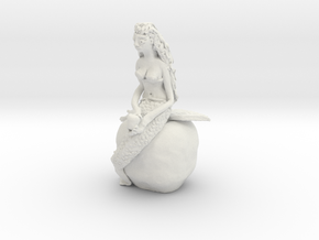 "Q-14: ""Big Apple Mermaid"" by Naomi Fisher in White Natural Versatile Plastic"