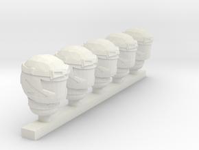 cobra viper helmet in White Natural Versatile Plastic