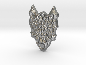 Wolfs Head in Natural Silver