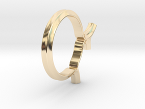 Shapesweeper Hexagon Fullgrown Ring in 14k Gold Plated Brass: 4 / 46.5