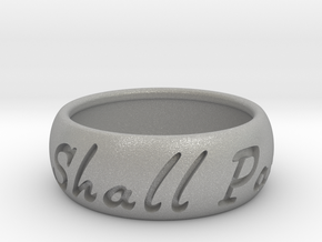 This Too Shall Pass ring size 12 1/2  in Aluminum