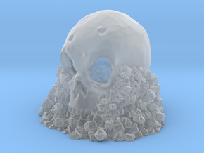 Skull on Rocks in Smooth Fine Detail Plastic