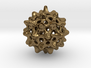 Cell Pendant in Polished Bronze