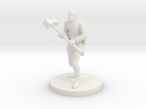 Human War Cleric in White Natural Versatile Plastic