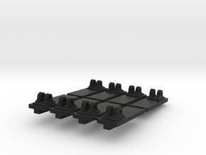 Set of 8 Pivots for 1:24 scale model of a Royal Na in Black Natural Versatile Plastic