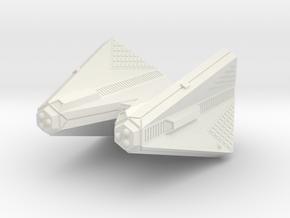 3788 Scale Tholian Command Cruiser (CC) SRZ in White Natural Versatile Plastic