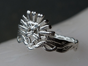Cersei's Crown Ring in Polished Silver: 10 / 61.5