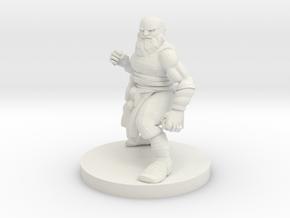 Dwarf Monk 2 in White Premium Versatile Plastic