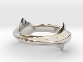 Angel in Rhodium Plated Brass