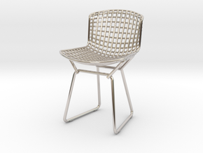 Knoll Bertoia Side Chair Frame 1:12  Scale in Rhodium Plated Brass