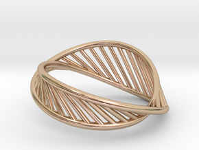 DNA Ring US7 in 14k Rose Gold Plated Brass: 8 / 56.75
