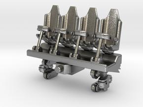 Wagon Seats small in Natural Silver (Interlocking Parts)