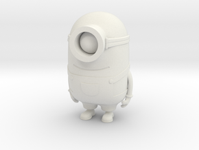 """One eyed minion from """"Despicable Me"""" in White Natural Versatile Plastic"""
