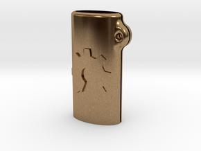 BIC mini OSH keychain in Natural Brass