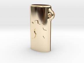 BIC mini OSH keychain in 14k Gold Plated Brass