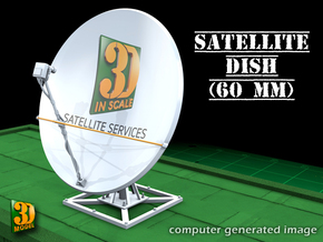 Satellite dish (60mm) in Smooth Fine Detail Plastic
