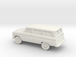 1/87 1962 Chevrolet Suburban Split Rear Doors in White Natural Versatile Plastic