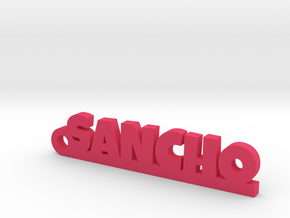 SANCHO_keychain_Lucky in Pink Processed Versatile Plastic