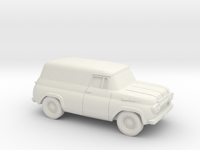 1/87 1957-60 Ford Panel in White Natural Versatile Plastic