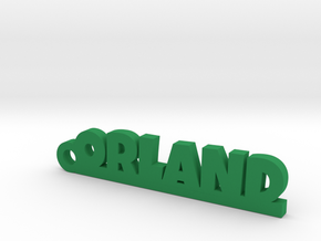 ORLAND_keychain_Lucky in Green Processed Versatile Plastic