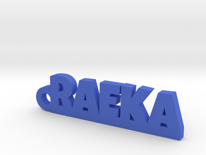 RAEKA_keychain_Lucky in Blue Processed Versatile Plastic