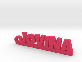 JOVINA_keychain_Lucky in Pink Processed Versatile Plastic