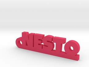 NESTO_keychain_Lucky in Pink Processed Versatile Plastic