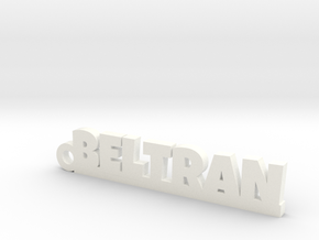 BELTRAN_keychain_Lucky in White Processed Versatile Plastic