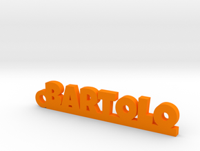 BARTOLO_keychain_Lucky in Orange Processed Versatile Plastic