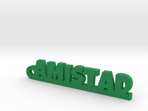 AMISTAD_keychain_Lucky in Green Processed Versatile Plastic