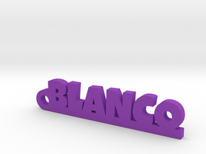 BLANCO_keychain_Lucky in Purple Processed Versatile Plastic