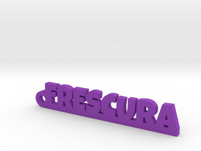 FRESCURA_keychain_Lucky in Purple Processed Versatile Plastic