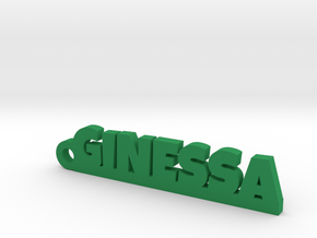 GINESSA_keychain_Lucky in Green Processed Versatile Plastic