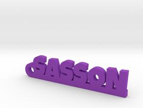 SASSON_keychain_Lucky in Rhodium Plated Brass