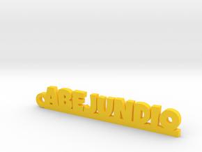 ABEJUNDIO_keychain_Lucky in 18K Yellow Gold