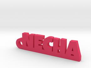 NECHA_keychain_Lucky in Rhodium Plated Brass