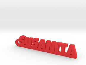 SUSANITA_keychain_Lucky in Red Processed Versatile Plastic