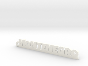 MONTENEGRO_keychain_Lucky in Polished and Bronzed Black Steel