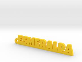 ESMERALDA_keychain_Lucky in Rhodium Plated Brass
