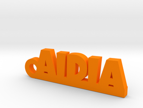 AIDIA_keychain_Lucky in Orange Strong & Flexible Polished