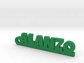 ALANZO_keychain_Lucky in Green Processed Versatile Plastic